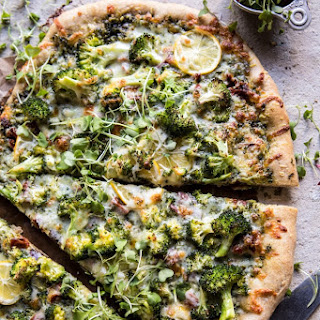 Lemon Roasted Broccoli Whole Wheat Pizza Recipe