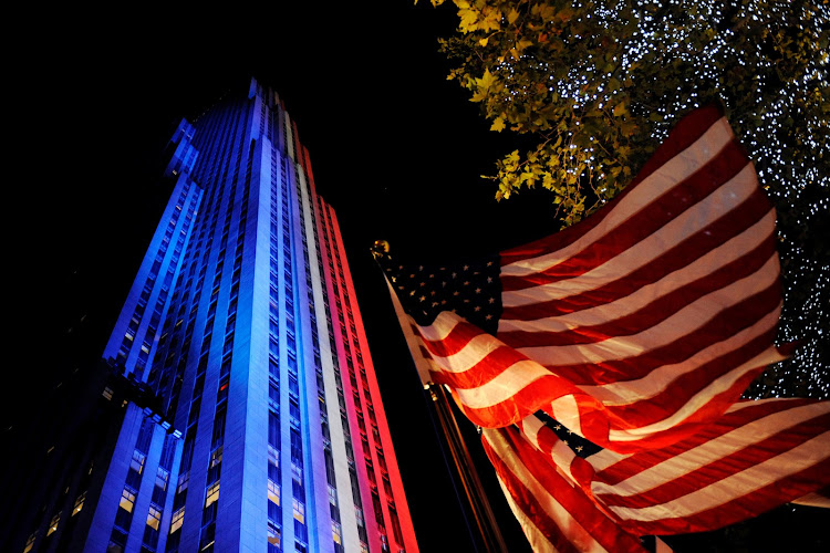 Rockefeller Center is lit up in New York. Picture: REUTERS/MARK KAUZLARICH