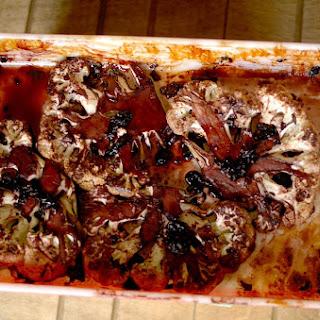 Blueberry Balsalmic Mint Cauliflower Steaks