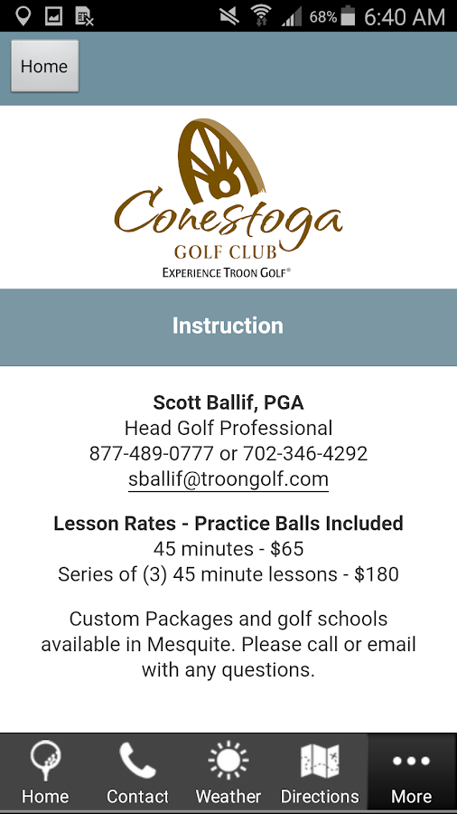 Conestoga Golf Club- screenshot