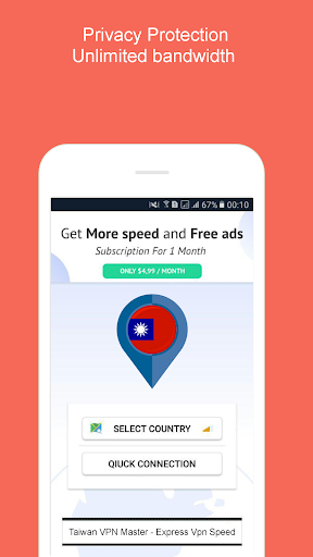 Taiwan VPN Master - Express VPN Speed App Report on Mobile Action