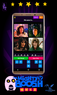 The Mighty Boosh - Quiz Game Screenshot
