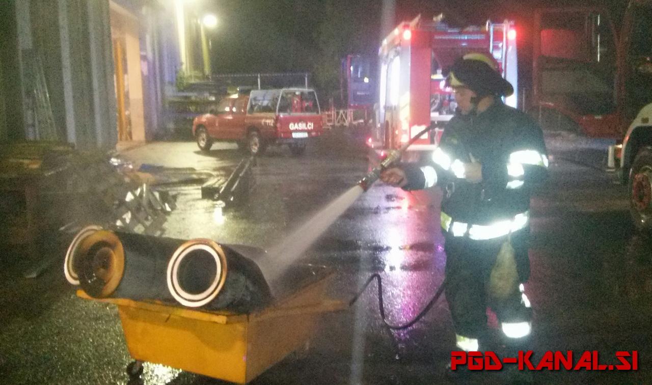 PGD Kanal - Požar filtrov v Salinvestu