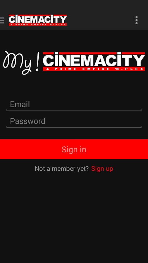 Cinemacity- screenshot