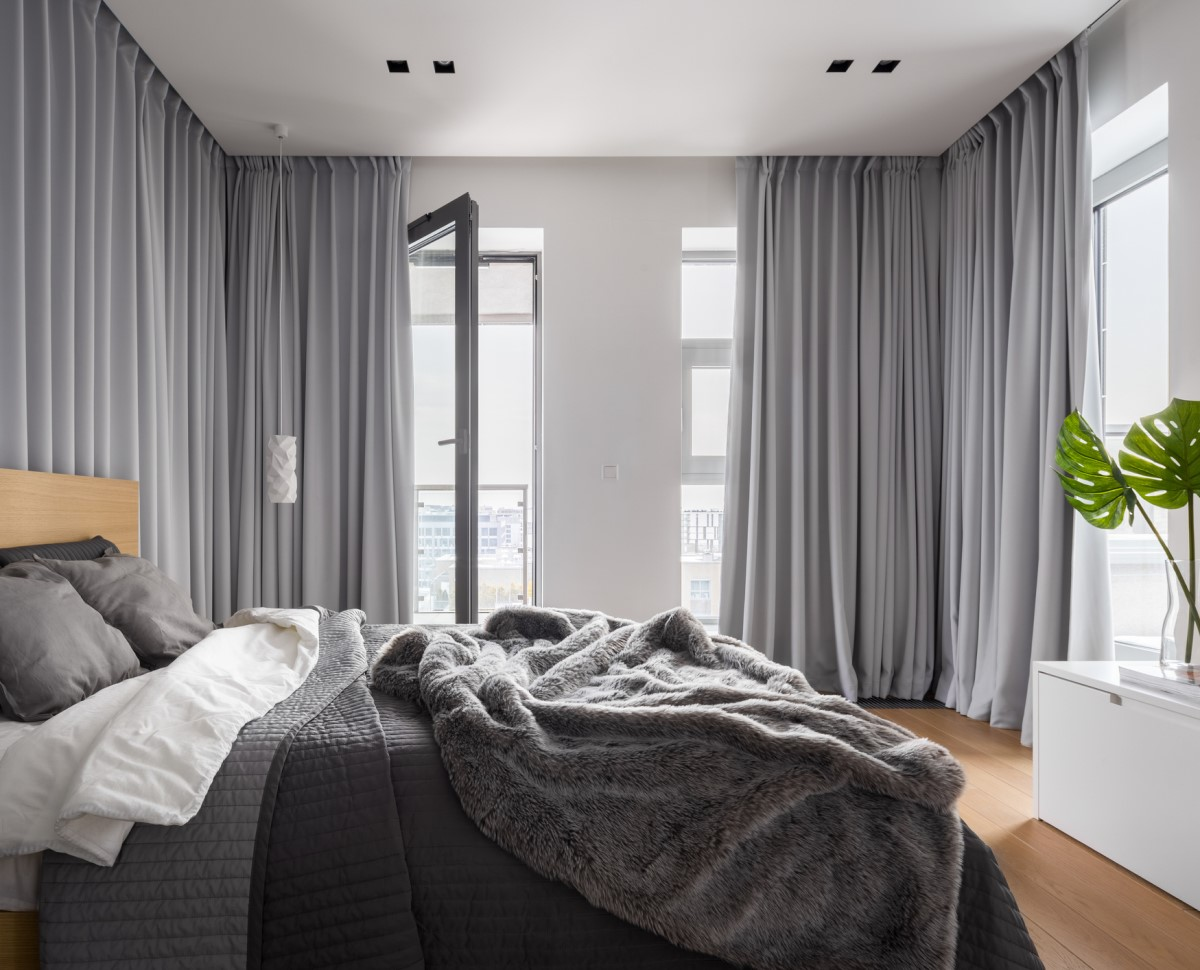 Try Out Curtain Panels for a Large Bedroom Wall