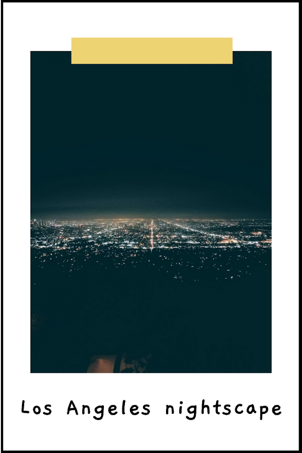 Los Angeles nightscape view from the Griffith Observatory