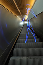 Photo: Escalator to heaven - Light painting by Christopher Hibbert, french photographer and light painter. Further information: http://www.christopher-hibbert.com