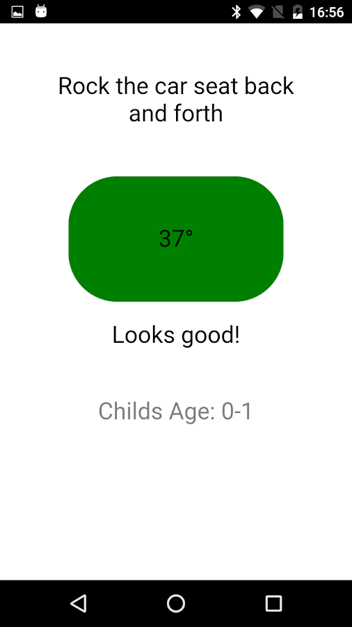 Child Car Seat Angle Tester- screenshot