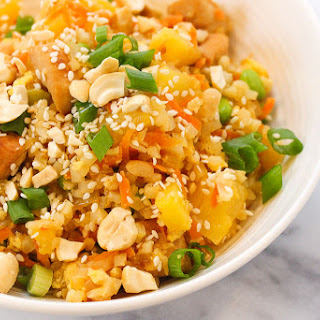 "Hawaiian Chicken Cauliflower ""Fried"" Rice."