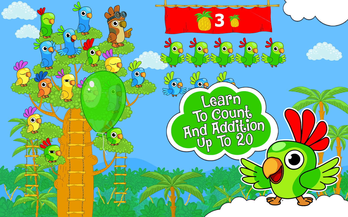 Counting Parrots 1 Free- screenshot