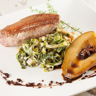 Pan-fried Duck Breast With Creamed Cabbage