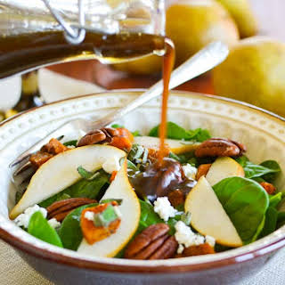 Pear and Butternut Squash Salad with Maple-Balsamic Vinaigrette.