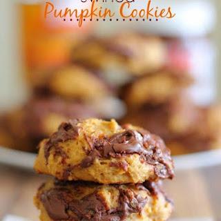 Nutella Swirled Pumpkin Cookies