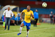 Anele Ngcongca of Mamelodi Sundowns during the Absa Premiership match between Mamelodi Sundowns and AmaZulu FC at Loftus Versfeld Stadium on January 29, 2019 in Pretoria, South Africa.