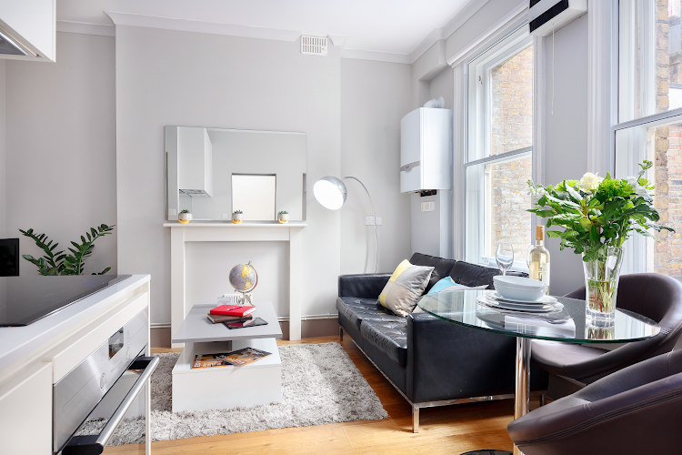 living space at Cleveland Residences Fitzrovia Serviced Apartments