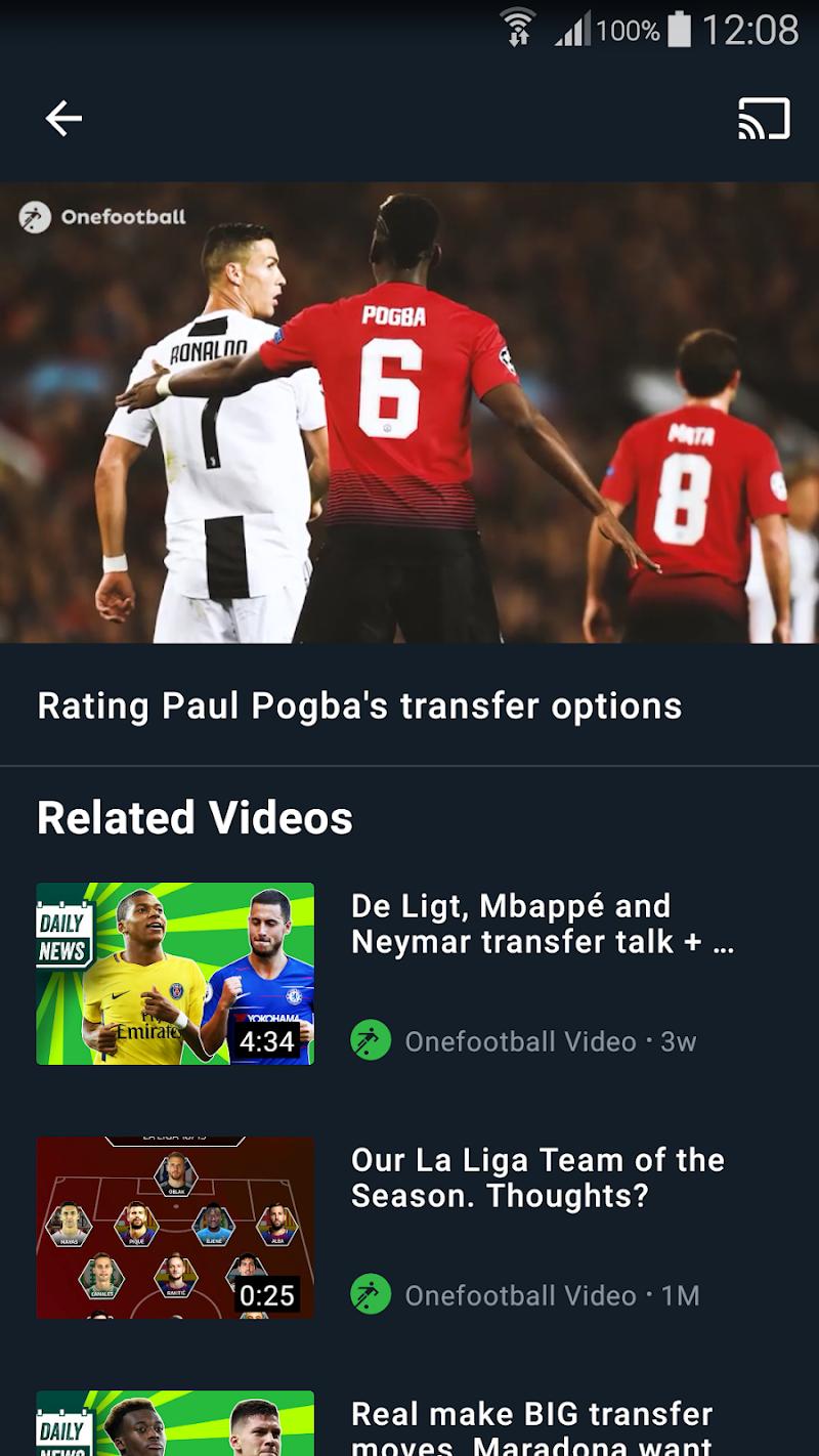 Onefootball - Soccer Scores Screenshot 2