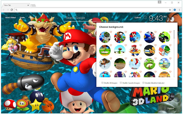 super mario bros theme hd wallpapers new tab chrome web store