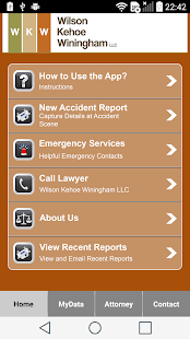 WKW Auto Accident App- screenshot thumbnail