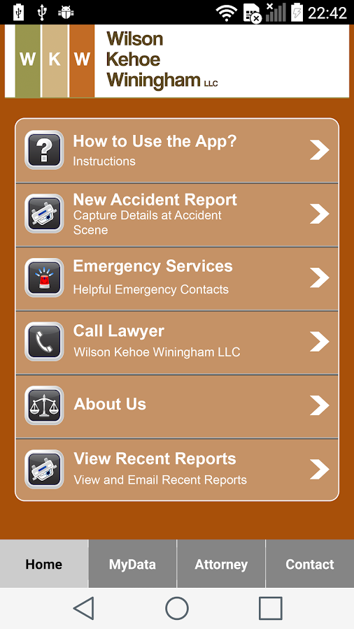 WKW Auto Accident App- screenshot