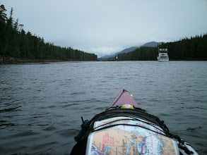 Photo: June 5 - Heading up Reid Passage with Cecilia Island on the left.