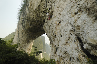 """Photo: Kate is climbing """"Emission Control (5+ / 5.9)"""""""