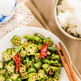 Four Ingredient Okra Stir Fry