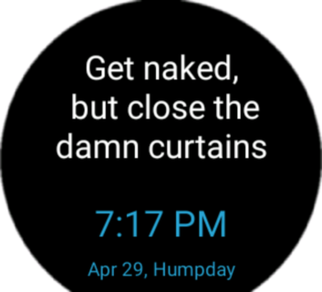 Smartass Watch Face and Widget
