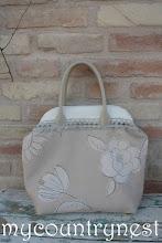 Photo: borsa natural con fiori