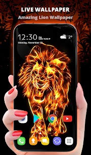 Fire Wallpaper and Keyboard – Fire Lion 1