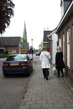 Photo: terug in de Dorpsstraat, toren van de RK kerk op de achtergrond