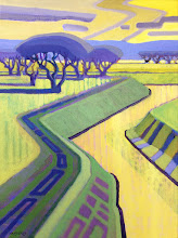 "Photo: ""Marsh Creek Trail"", acrylic on canvas 16"" x 12"", © Nancy Roberts"