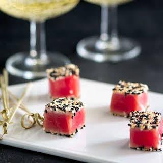 Seared Sesame Tuna Bites - A Quick Canapé.