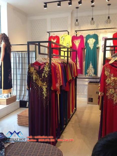 thiết kế shop áo dài tinh tế hợp lý