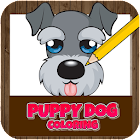 Puppy dog coloring - Cute puppies draw & paint icon
