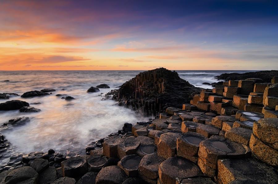 Giants Causeway by Jigs Fernandez - Landscapes Waterscapes