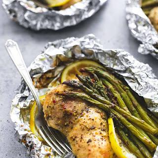 Lemon Chicken & Asparagus Foil Packs.