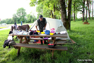 Photo: (Year 2) Day 342 - Rog Cooking Our Supper at the Camp in Centralia