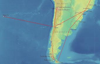 Photo: 9B190000 Brazylia - Chile - Wyspa Wielkanocna - Argentyna