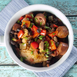 Brazilian Chicken, Sausage And Black Bean Stew