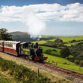 Woody Bay - Devon by James Johnstone - Transportation Trains ( woody bay, station, steam, railway, train )