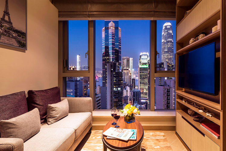 living space at Soho Serviced Apartment, Hong Kong