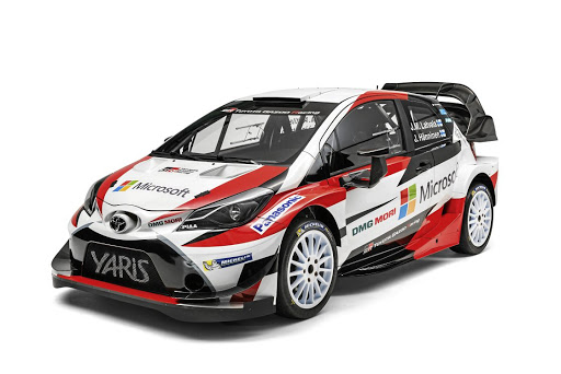 The Toyota Yaris WRC car that will compete in the 2017 championship.   Picture: TOYOTA GAZOO RACING