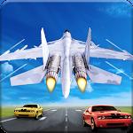 Jet Fighter Highway Landing Icon