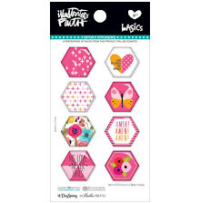 Bella Blvd Illustrated Faith Hexies Epoxy Stickers - One In A Melon UTGÅENDE