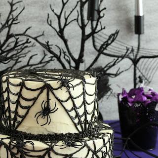 Black Velvet Spider Cake #SundaySupper
