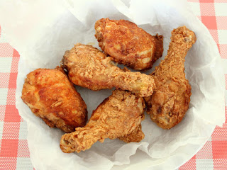 Man Catching Fried Chicken Recipe