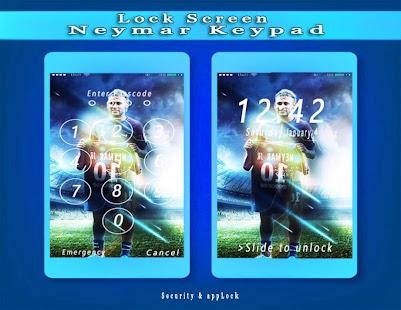 Lock Screen - Neymar Keypad & Security & PSG - náhled