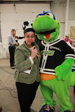 Photo: Deputy Secretary of Agriculture (and even MC) Diane Bothfeld with Champ