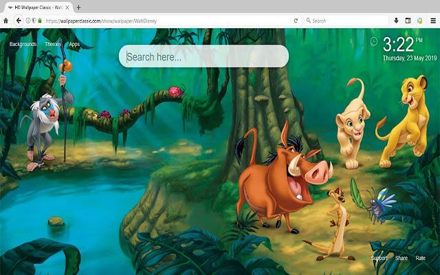 Disney Wallpaper HD New Tab Themes