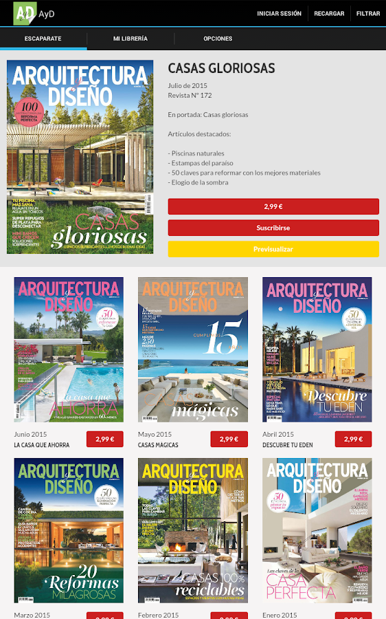 Arquitectura y dise o revista android apps on google play for Revista habitat arquitectura diseno interiorismo